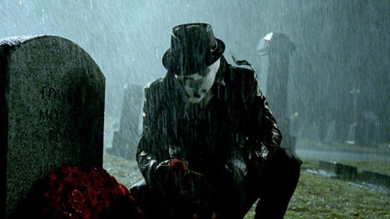 Jackie Earle Haley in Watchmen van Zack Snyder. Beeld