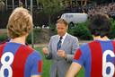Rinus Michels als coach van FC Barcelona in 1976.