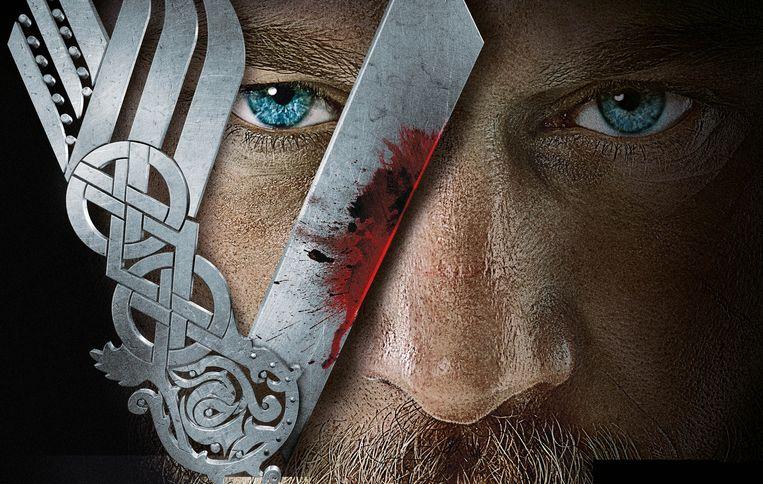 Ragnar Lothbrok (Travis Fimmel) in 'Vikings'. Beeld Vikings