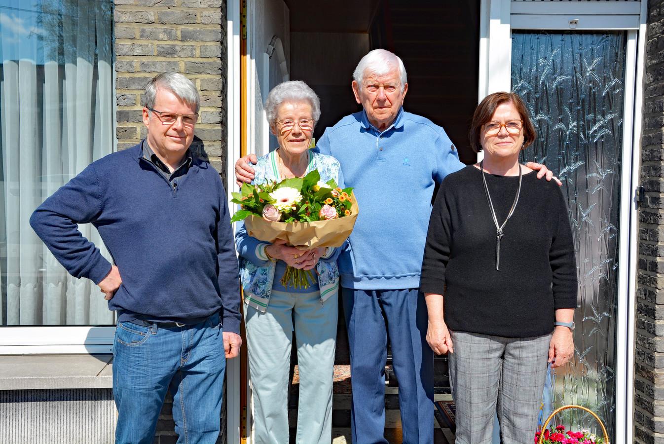 Joseph Bommerez en Maria Grymonprez zijn 60 jaar getrouwd.