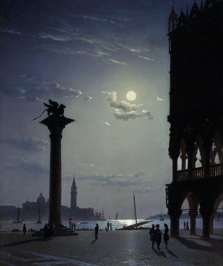 De lagune gezien vnaaf het Sint Marcoplein door Eugenio Cecchini Prichard. Beeld Galleria d'Arte Moderna, Milano,Saporetti Immagini d'arte