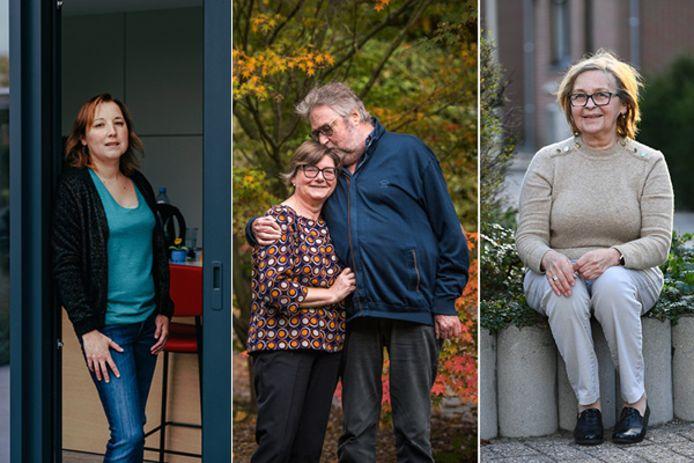 De gauche à droite: Katrien Van Nuffel, Frank Dierickx et son épouse Pascale Monnaie, Joanne Rosiers.