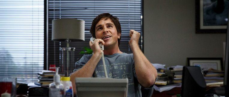 Christian Bale in The Big Short van Adam McKay Beeld