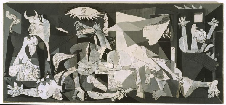Guernica van Picasso. Beeld .