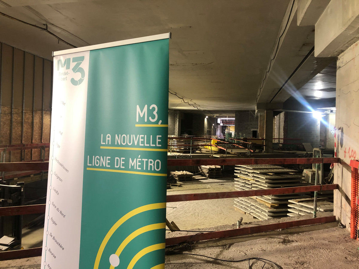 D'ici 2025, la station de pré-métro Albert accueillera le terminus sud de la future ligne de métro 3 vers le nord. Les travaux en vue de faire de transformer ce pôle actuellement desservi par des trams en une station multimodale battent leur plein, a-t-on observé lors d'une visite du chantier lundi matin.