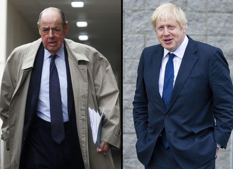 Kleinzoon Churchill en premier Johnson.