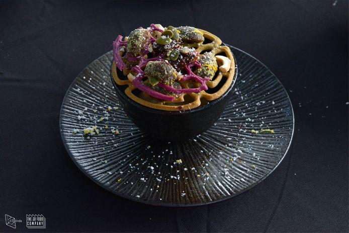 De Karpendonkse Hoeve experimenteert twee weken lang, in samenwerking met Upprinting Food, met het printen van gerechtjes.
