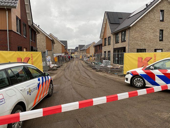 Het ongeluk vond plaats in een nieuwbouwbuurt in aanbouw.