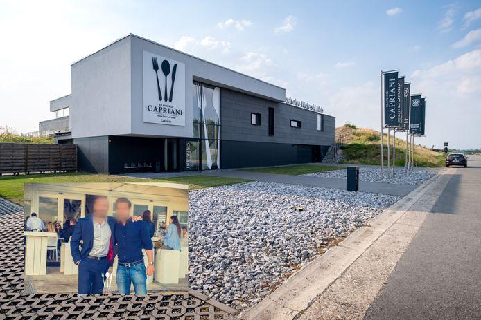 Il Capriani in Mechelen. Inzet: Horecabroers B. uit Antwerpen bij de opening van hun zaak.
