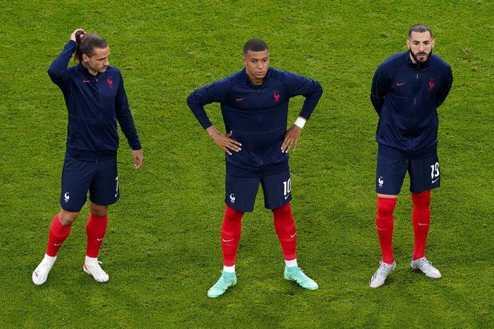 Antoine Griezmann, Kylian Mbappe et Karim Benzema.