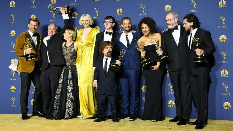 The cast van Game of Thrones tijdens de uitreiking Beeld anp