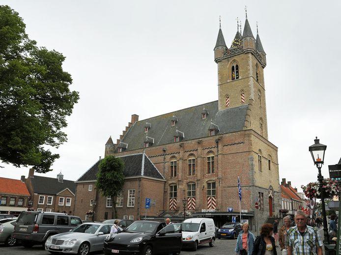 Het Belfort in Sluis.