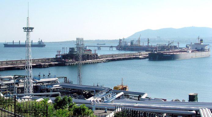 Archiefbeeld. De haven van Novorossijsjk aan de Zwarte Zee.