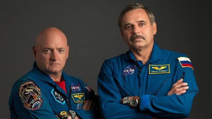 Scott Kelly en Michaïl Kornienko