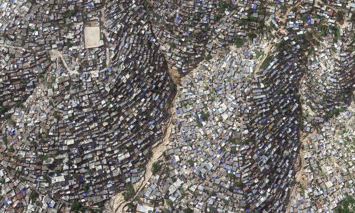 Port-au-Prince in Haïti, waar armoede zorgt voor levensgevaarlijke woonomstandigheden.