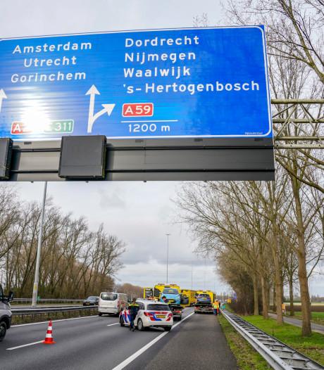 Ongeval op A27 bij Oosterhout; weg is weer open