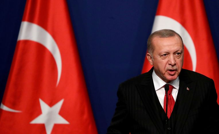 De Turse president Recep Tayyip Erdogan. Beeld REUTERS