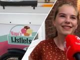 Maya (14) crost Enschede rond met haar eigen ijsfiets