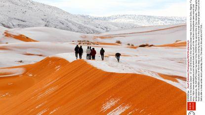Sahara, met s van sneeuw