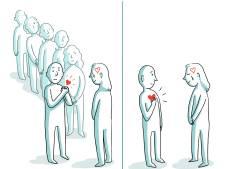 Geen handen schudden, maar wel een handkus tijdens condoleren