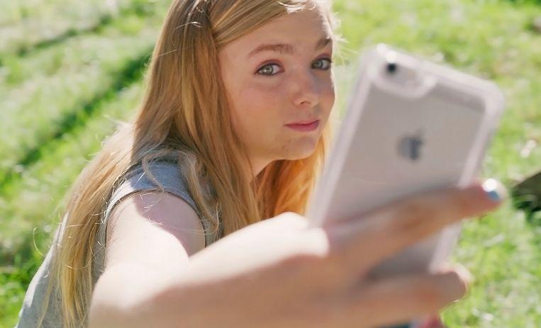 Elsie Fisher als Kayla in 'Eighth Grade'. Beeld rv