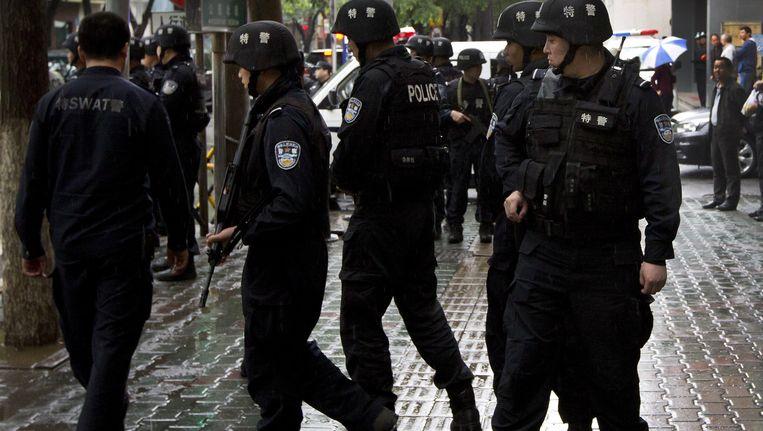 Archiefbeeld van politie in Xinjiang. Beeld ap