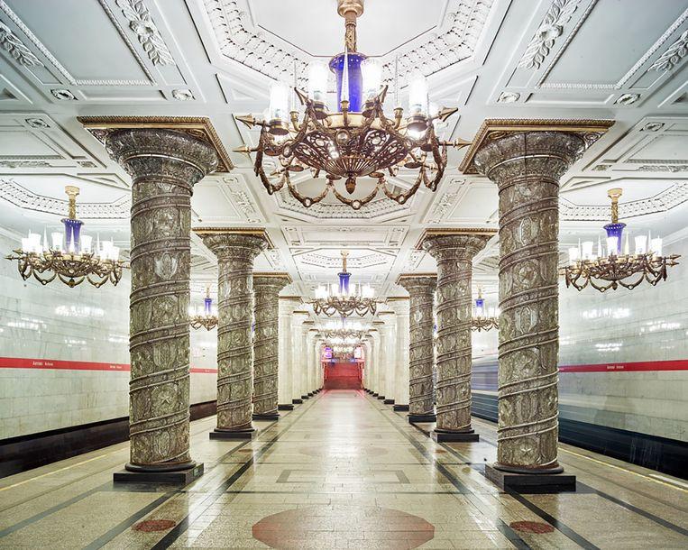 De metro in Sint-Petersburg: toverachtig. Beeld rv