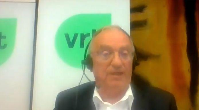Luc Van den Brande volgde via videoconferentie de commissievergadering.
