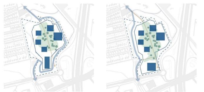 De resterende twee varianten voor het verkeer van, naar en langs het nieuwe politiecomplex in Meerhoven