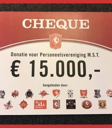 Supporters FC Twente halen 15.000 euro op voor ziekenhuispersoneel MST