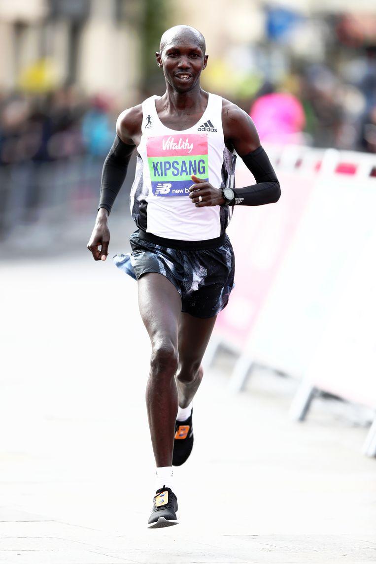 Atleet Wilson Kipsang uit Kenya. Beeld Getty Images