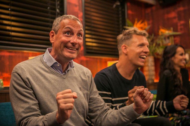 Gert Late Night met Gert Verhulst (l.) en James Cooke Beeld Vier