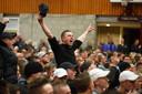 Protesten een jaar geleden tegen plannen voor de komst van vluchtelingen in Steenbergen.