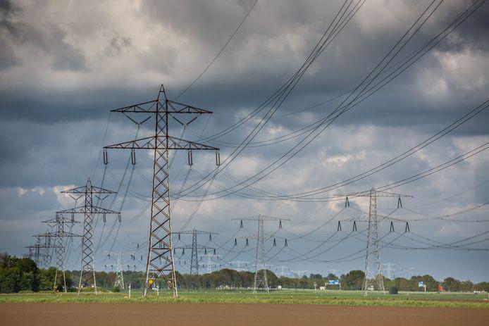 Elektriciteitsmasten. Foto ter illustratie.