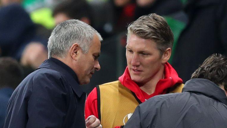 Onder José Mourinho kreeg Bastian Schweinsteiger amper speelgelegenheid bij Manchester United. Beeld Getty Images