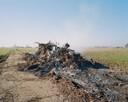 Brandende bult, ook bij Zalk, een verwijzing naar de vele bosbranden.