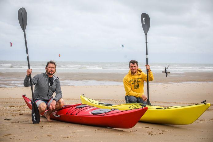 Alex Baeten en Peter Loyen beginnen een bedrijf om zeekajak initiaties te geven