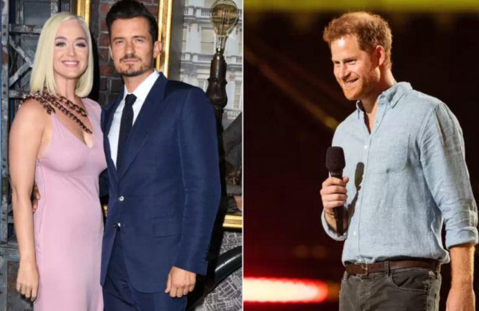 Katy Perry, Orlando Bloom en prins Harry.