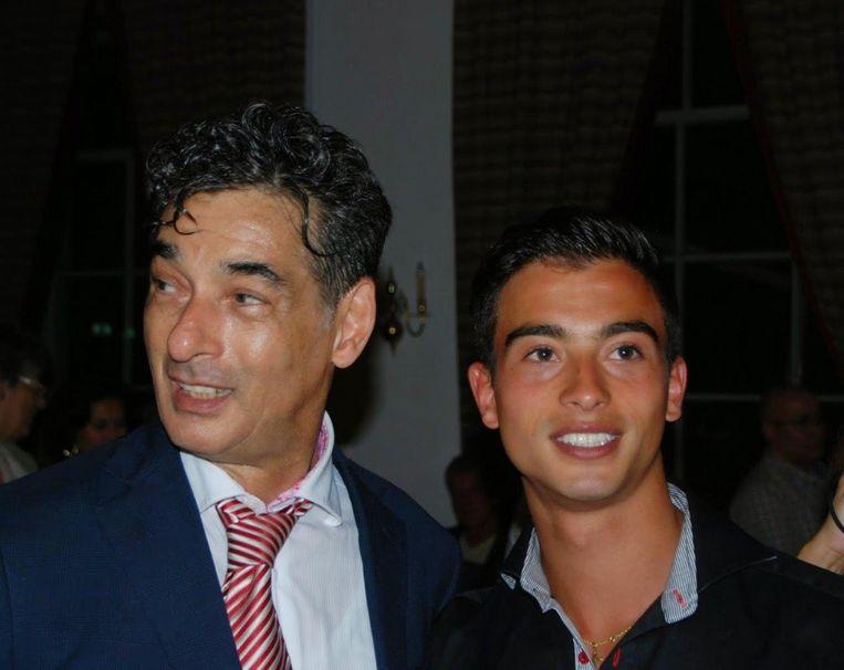 Gerard Spong met zijn zoon Xander. Beeld Archief Gerard Spong