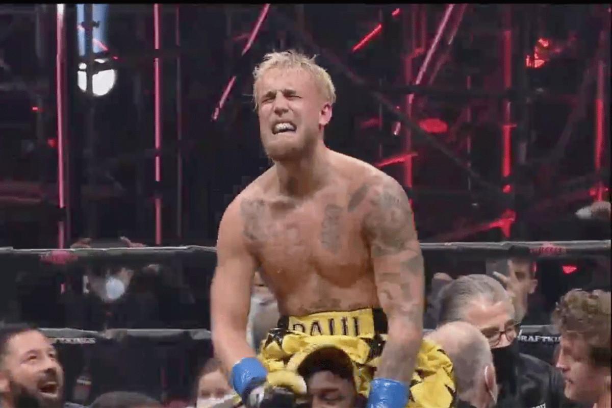 Jake Paul in tranen na zijn overwinning op Ben Askren