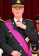 Le roi Philippe quelques minutes avant le lancement du défilé militaire.