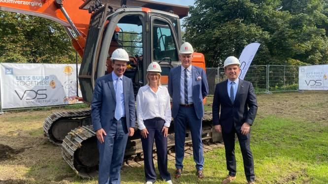 Vlaams minister van volksgezondheid Wouter Beke geeft startschot voor nieuwbouwwerken AZ Diest