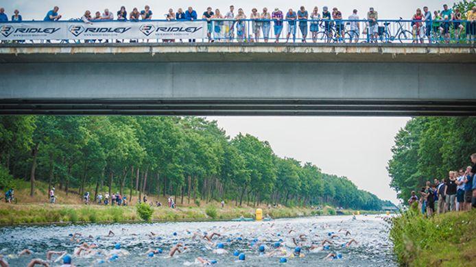 De triatlon brengt altijd heel wat volk op de been.