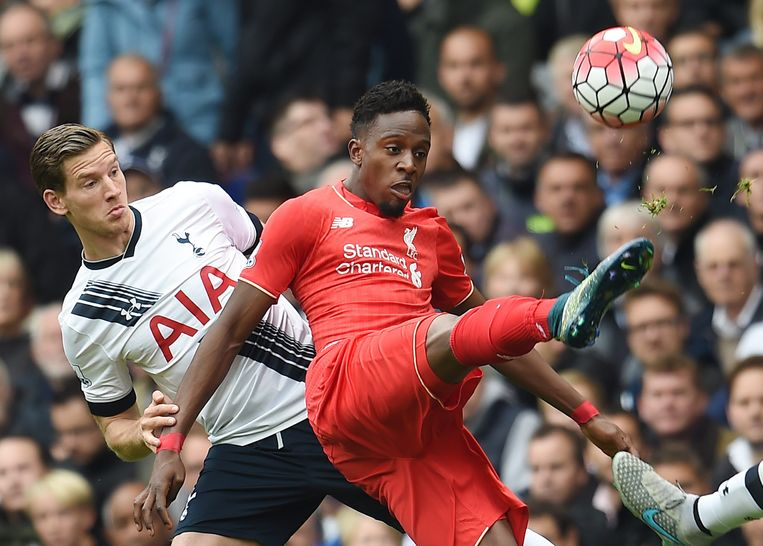 Origi in duel met Jan Vertonghen.