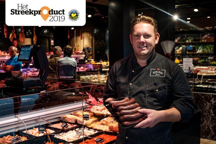 Bart Van Dijck van de gekende zaak Butcher Bart met zijn Sint-Antoniusbeuling.