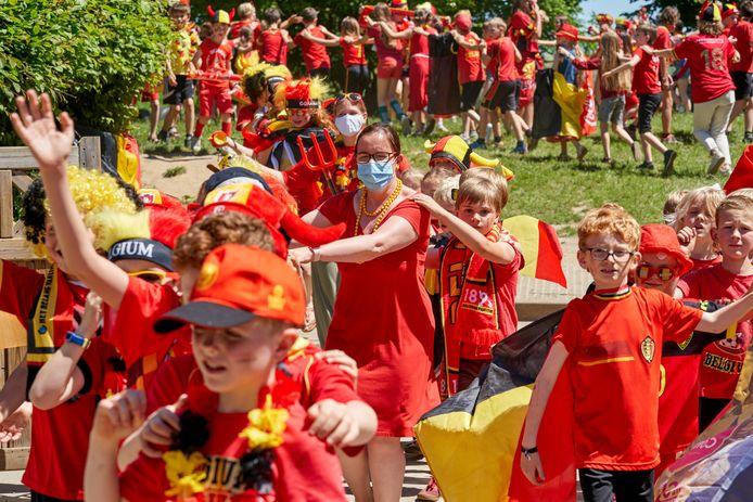 Bierbeek, Belgium - June 10 :   Red Challenge Bierbeek School De Kinderberg  June 10, 2021 in Bierbeek, Belgium, 10/06/2021 ( Photo by Vincent Duterne / Photonews