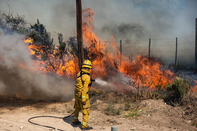 Een brandweerman aan het werk in Californië Beeld Getty Images/EyeEm