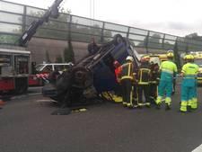 Ernstig ongeluk bij Reeuwijk zorgt voor afsluiting van A12
