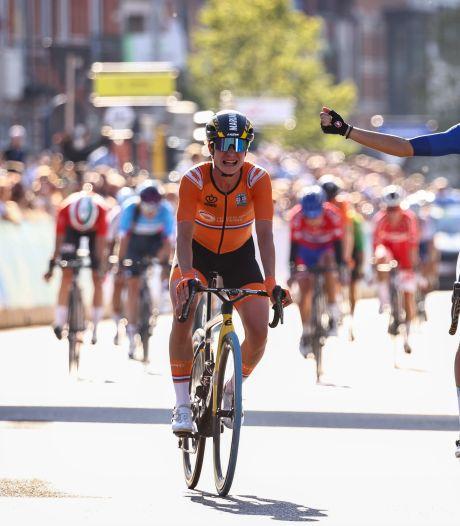 Net geen vierde wereldtitel voor Marianne Vos: zilver achter verrassende Italiaanse