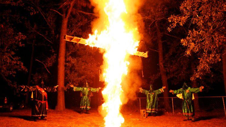 Archiefbeeld van een bijeenkomst van de Ku Klux Klan Beeld Reuters